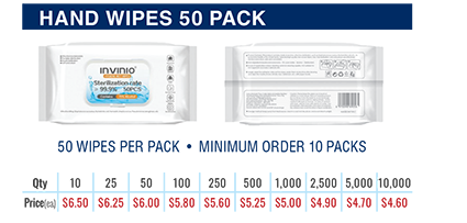 hand wipes 50 pack